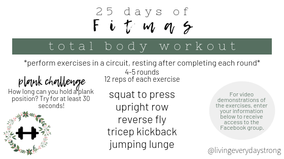 Fitmas Schedule + Workouts